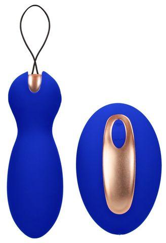 Синие вагинальные шарики Purity с пультом ДУ