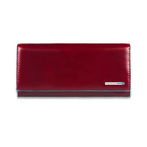 Портмоне Piquadro Blue Square, красное, 19х10х2,2 см