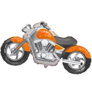 Фольгированный шар Мотоцикл оранжевый 57см X 115см