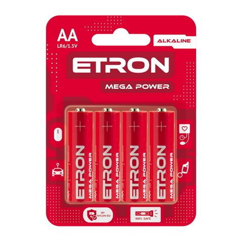 Батарейки Maxus/Etron Alkaline LR6, AA (4/48) BL