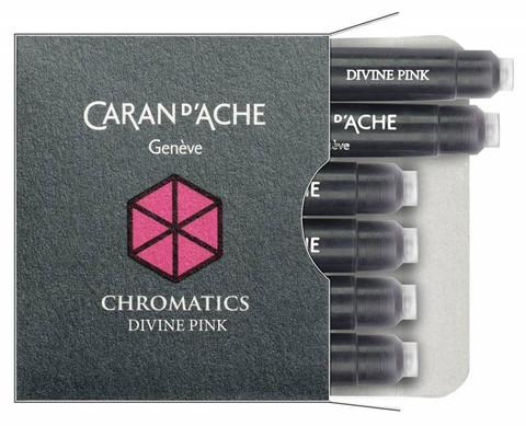 Carandache Чернила (картридж), розовый, 6 шт в упаковке