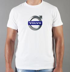 Футболка с принтом Вольво (Volvo) белая 006