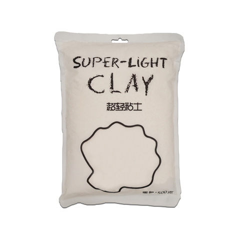 Глина для слаймов Super Light Clay (белая, 500 г)
