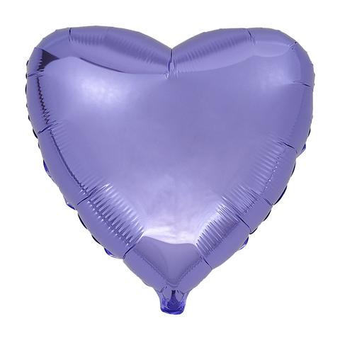Воздушный шар Сердце 44см (Лиловое)