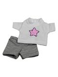 футболка + шорты - Серый. Одежда для кукол, пупсов и мягких игрушек.