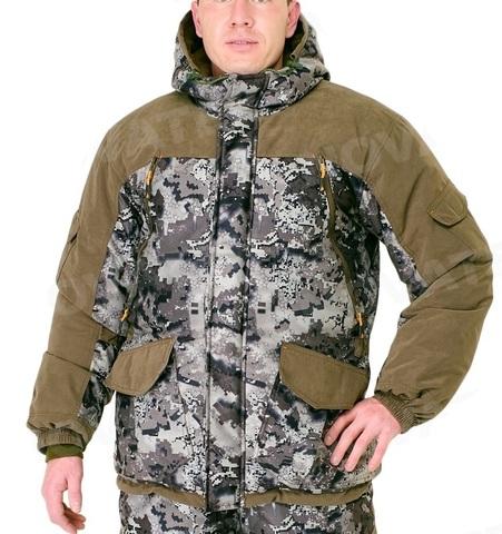 Костюм Горка Зима -40 (алова мембрана, коричневый тетрис) PRIDE