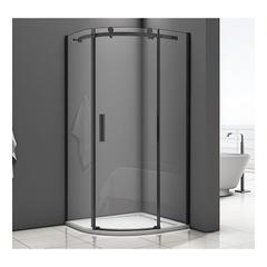 Душевое ограждение Good Door Galaxy R-90-C-B 90х90 см, черный профиль