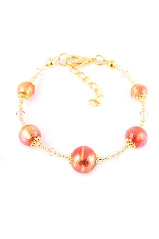 Браслет Примавера Fuxia золотисто-розовый