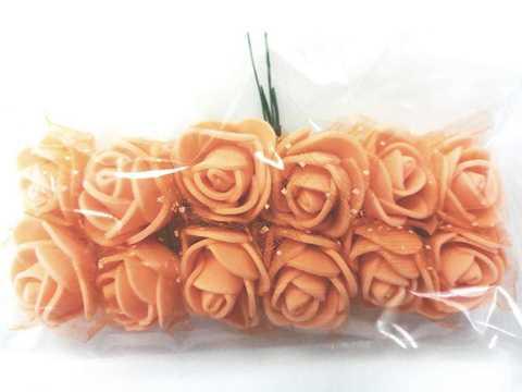 Букет розочек из фоамирана, цвет оранжевый.