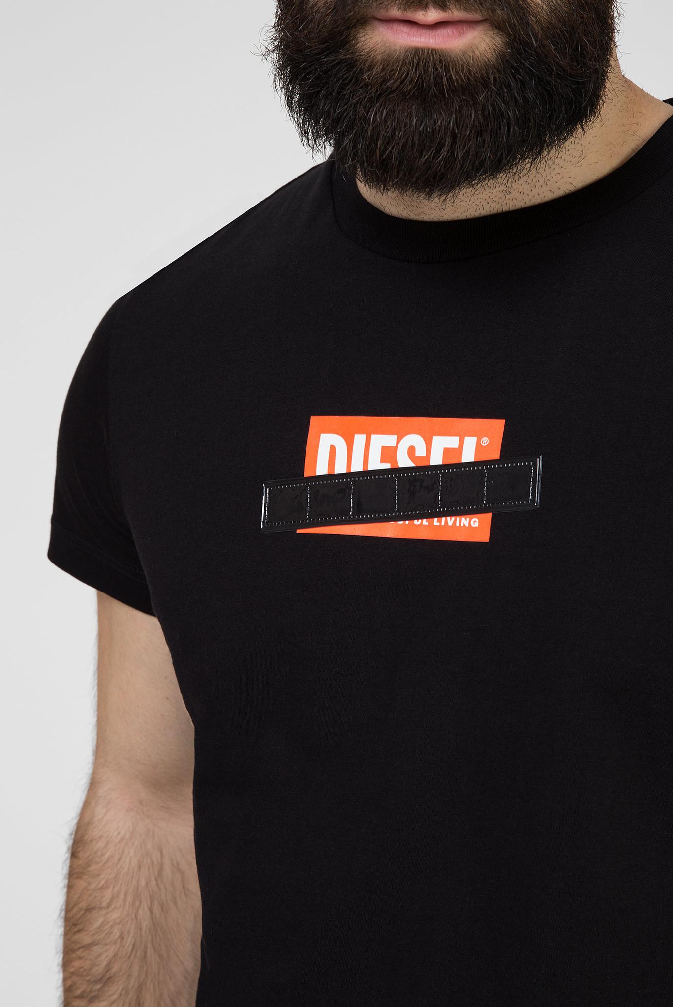 Мужская черная футболка T-DIEGO-S7 Diesel