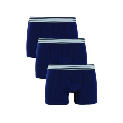 Трусы мужские боксеры набор 3в1 синие  DARKZONE DZN3333LCV