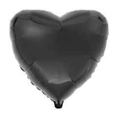 Воздушный шар Сердце 44см (Чёрное)