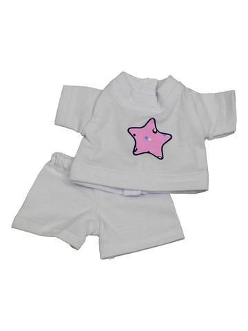 футболка + шорты - Белый. Одежда для кукол, пупсов и мягких игрушек.