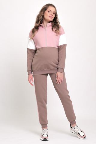 Утепленный спортивный костюм для беременных и кормящих 11955 мокко