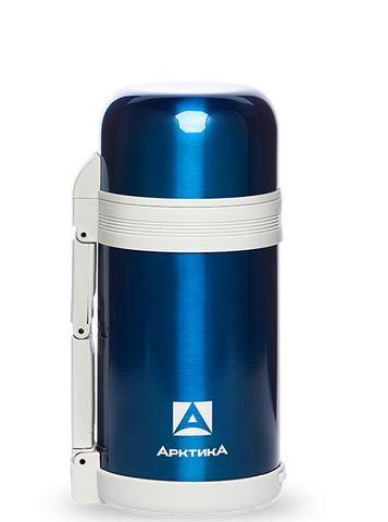 Термос универсальный (для еды и напитков) Арктика (1 литр) с широким горлом, синий