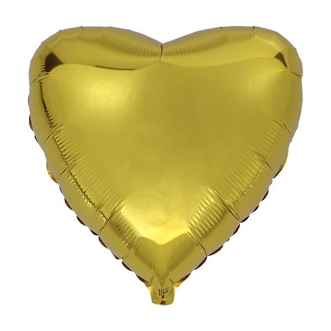Воздушный шар Сердце 44см (Золотое)