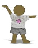 футболка + шорты - Демонстрационный образец. Одежда для кукол, пупсов и мягких игрушек.