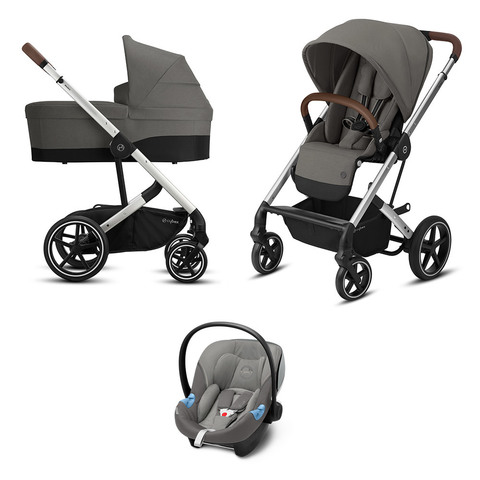 Детская коляска Cybex Balios S Lux SLV 3 в 1 Soho Grey