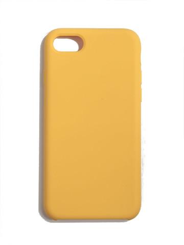 Чехол для iPhone 7+/8+ Софт тач мягкий эффект   микрофибра желтый