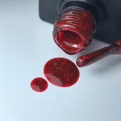 Bagheera Nails BN-72 эффект фольги, цвет красный гель-лак 10 мл
