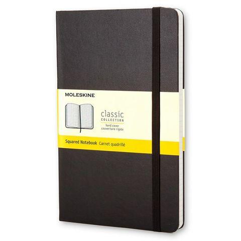Блокнот Moleskine CLASSIC QP061 Large 130х210мм 240стр. клетка твердая обложка черный