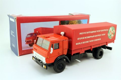 KAMAZ-5325 with awning Congress of the Tatars 1997 red Elecon Arek 1:43