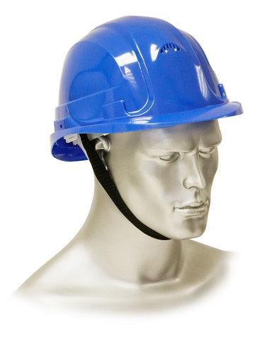 Каска защитная рабочая синяя