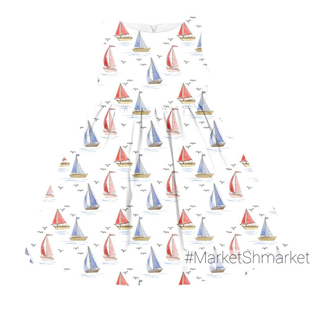Red and blue boats. Красные и синие кораблики