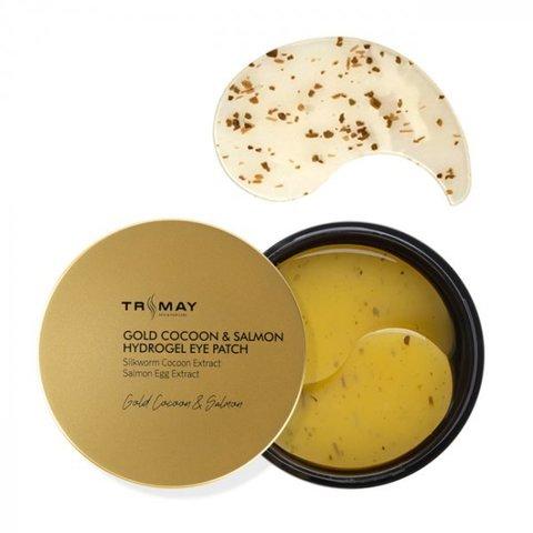 Патчи для век с экстрактом золотого кокона и икры лосося Trimay Gold Cocoon & Salmon Hydrogel Eye Patch