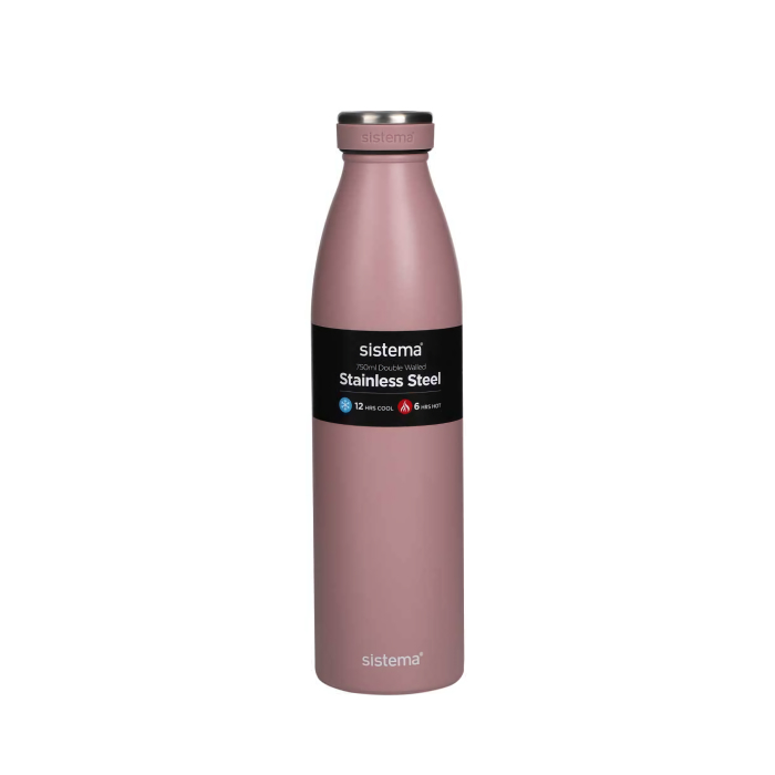 """Термобутылка Sistema """"Hydrate"""" 750 мл, цвет Розовый"""