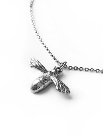 Серебряное колье-пчела
