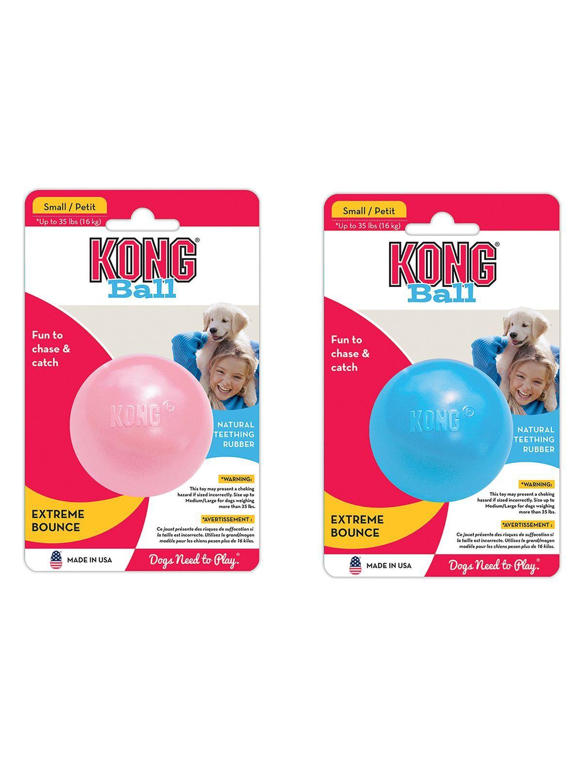 """Игрушки Игрушка для щенков KONG Puppy """"Мячик"""" под лакомства 6 см KPB2E_1.jpeg"""