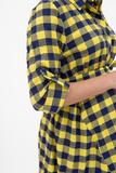 Платье для беременных 01229 клетка