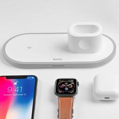 Беспроводное зарядное устройство 3 в 1 для смартфонов, Apple Watch, Airpods, HOCO CW21