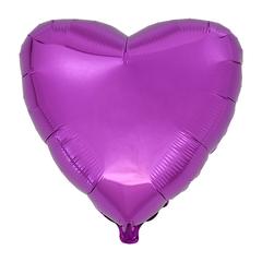 Воздушный шар Сердце 44см (Пурпурное)