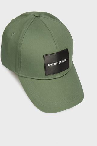 Мужская темно-оливковая кепка Calvin Klein