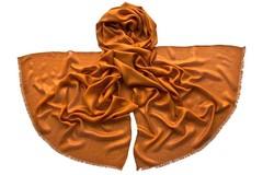 Палантин оранжевый из шелка 4728