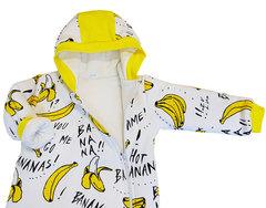 Папитто. Утепленный комбинезон на молнии Бананы вид 3