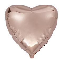 Воздушный шар Сердце 44см (Розовое Золото)
