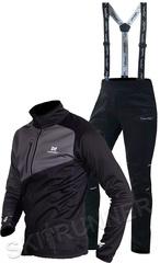 Утеплённый лыжный костюм Nordski Premium Black-Graphite 2022