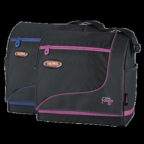 Термосумка детская Thermos Foogo Large Diaper Sporty Bag (черная/голубая)