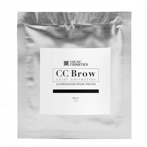 Хна для бровей CC Brows в саше, 5 гр. Цвет черный