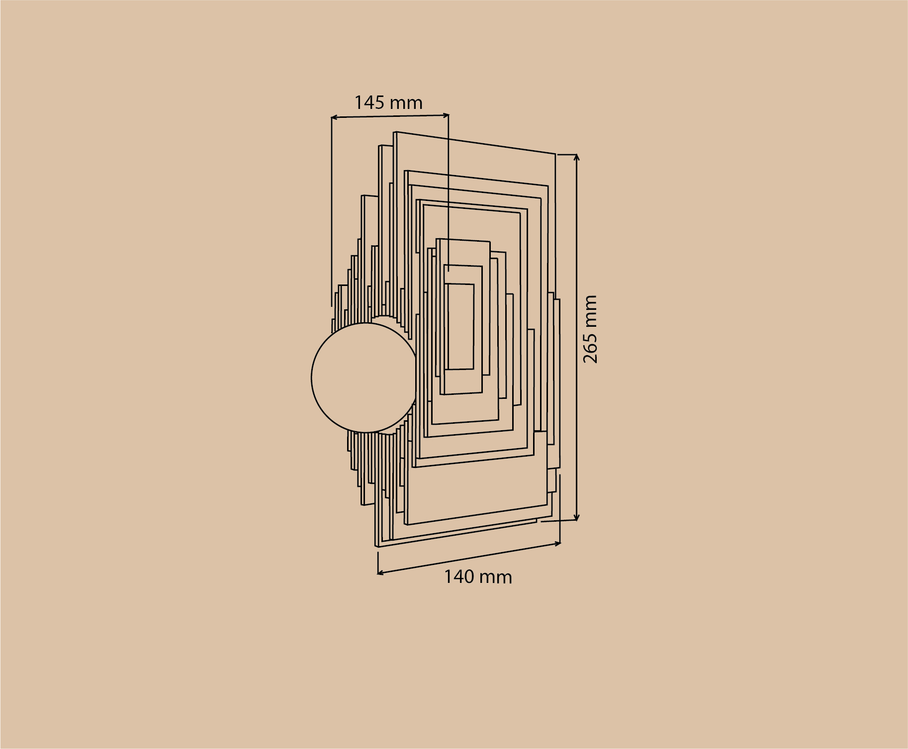 Настенный светильник GALACTIC Fourier - вид 7