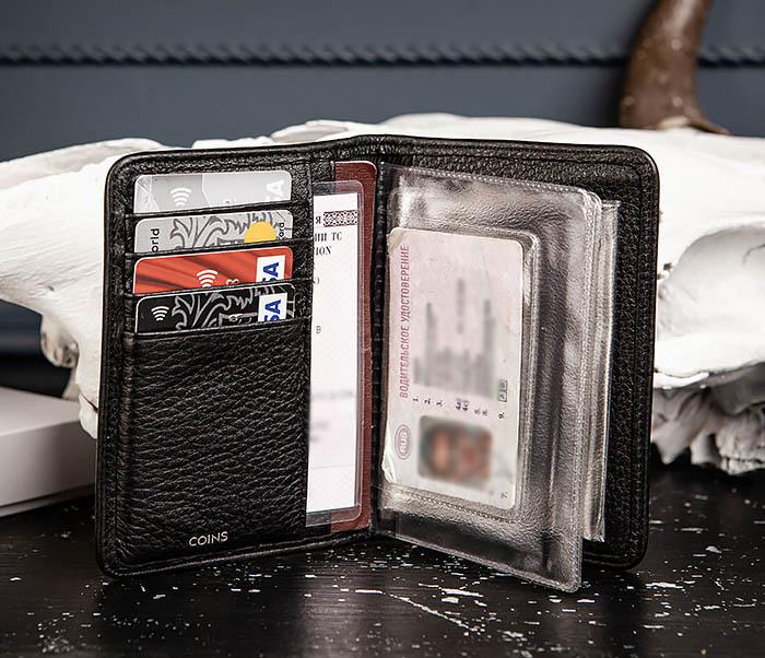 BC217-4 Кожаная обложка для паспорта, карт и документов «Onyx» фото 07