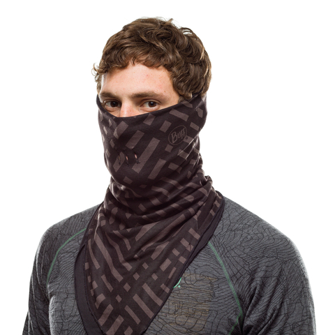 Бандана-шарф флисовая Buff Bandana Polar Platinum Graphite фото 2