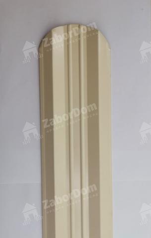 М-образный штакетник металлический 95 мм RAL 1015 двухсторонний 0.5 мм