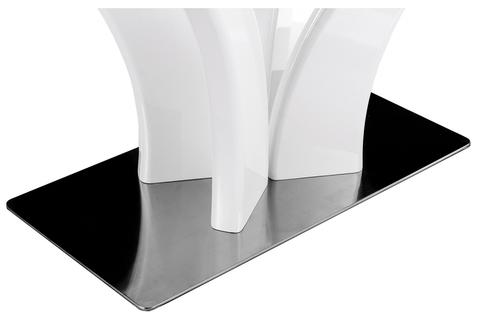 Стеклянный стол кухонный, обеденный, для гостиной Horns 160 super white 90*90*76 Super white