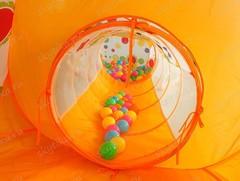 Палатка+туннель+бассейн, 3 в 1, Оранжевый