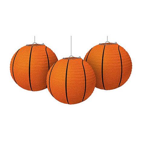 Фонарики бумажные Баскетбольный Мяч, 3шт