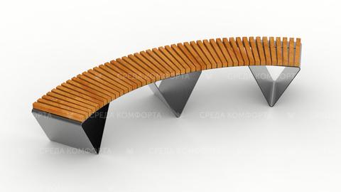 Полукруглая скамейка SCAM0027